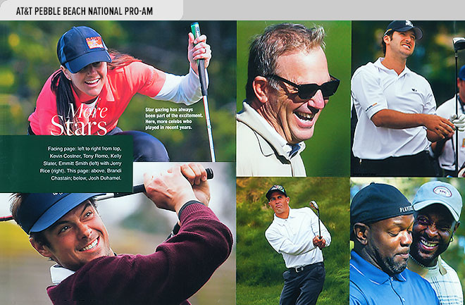 Event program design spread from the AT&T Pebble Beach National Pro-Am Official Program